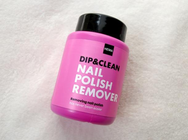 Nagellak remover dip&clean Hema